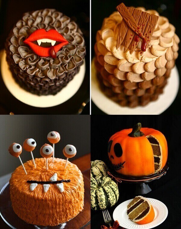 Modelos de bolo de Halloween criativos para se inspirar