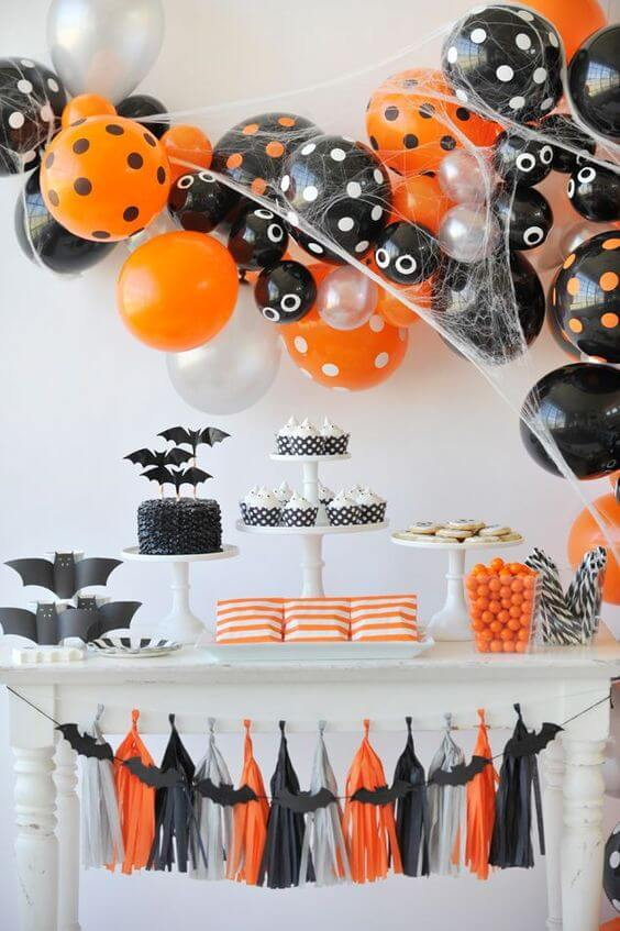 mesa de doces do halloween