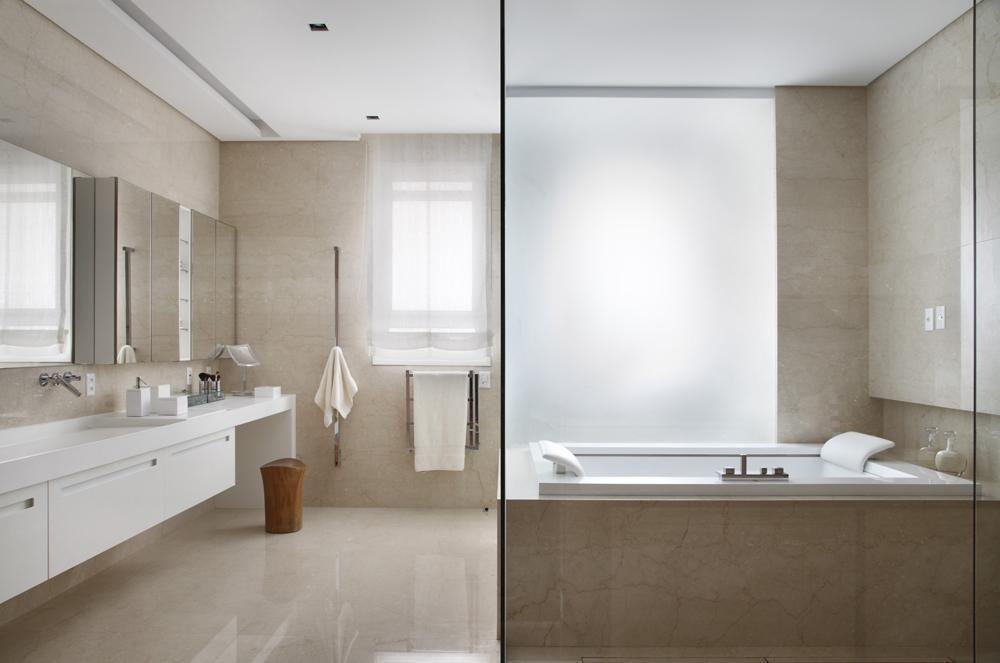 janela para banheiro - banheiro com pias