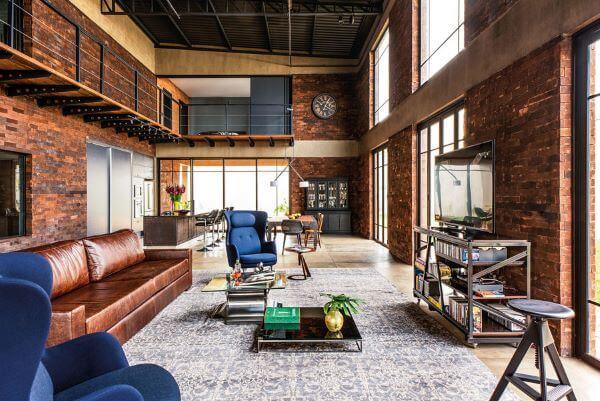 Loft decorada estilo industrial