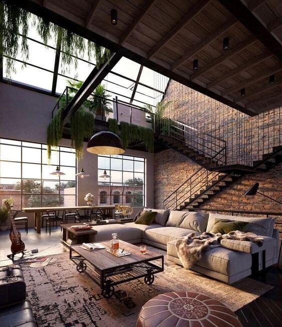 Loft decorativo e industrial