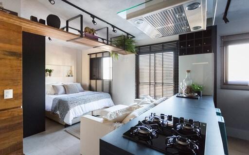Loft pequeno e organizado