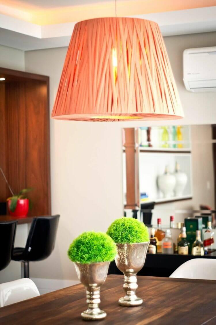 lustres simples - lustre de fita rosa