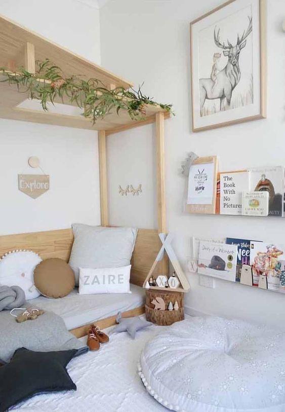 móveis montessorianos - quarto montessoriano com revisteiro