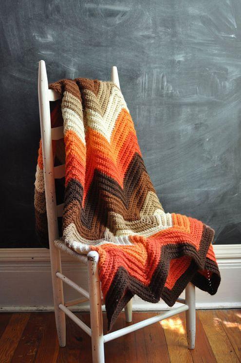 manta de crochê - manta colorida de cadeira