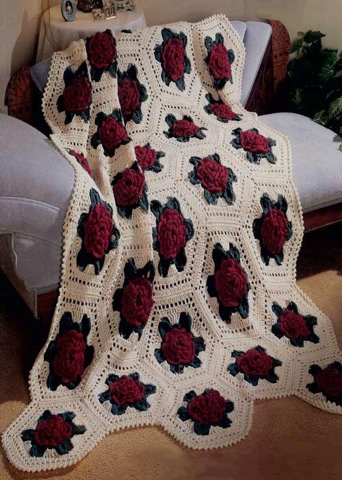 manta de crochê - manta de crochê florida