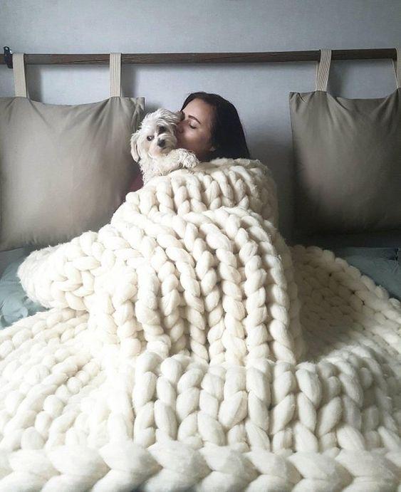 manta de crochê - manta de maxi crochê branco