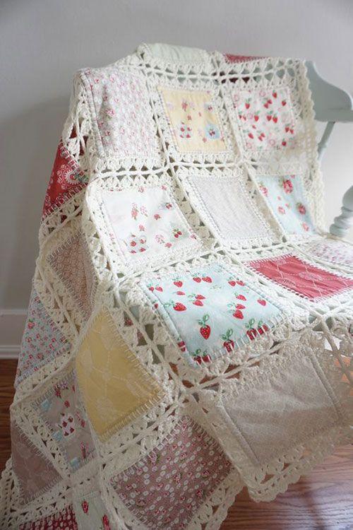 manta de crochê - manta de poltrona branca com estampas