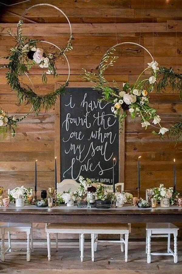 mesa decorada para mini wedding rústico com detalhes modernos Foto DIY Ideas Designs