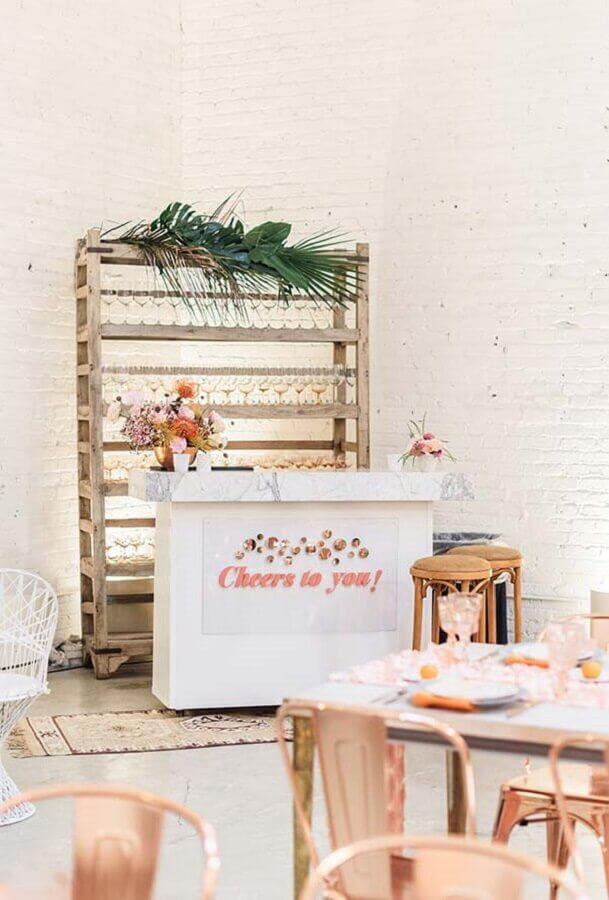 mini wedding com decoração simples Foto Pinterest