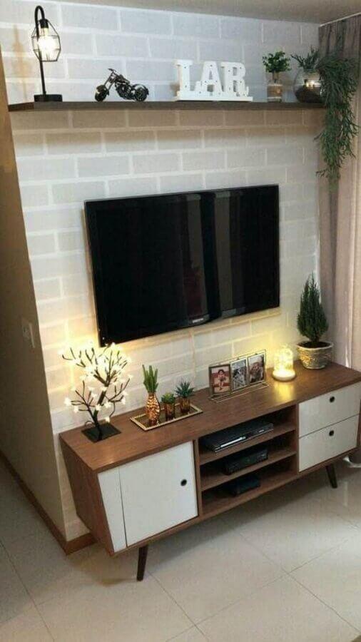 modelo retrô de rack pequeno para sala Foto Decoração de Casa
