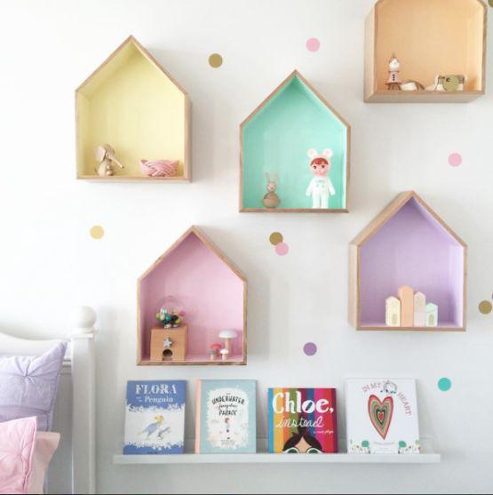 Os nichos são perfeitos para organizar os brinquedos