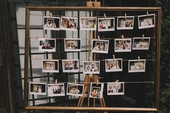 painel de fotos na festa