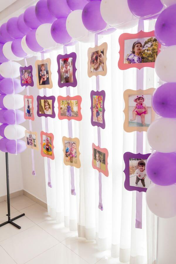 painel de fotos para festa infantil