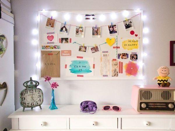 Painel de fotos para quarto com imã