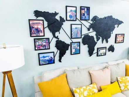 painel de fotos para sala de estar