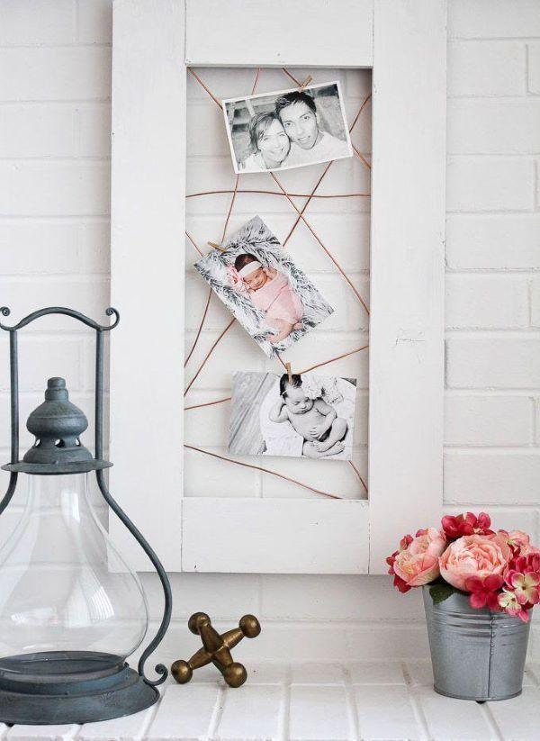 Painel de fotos criativo para decorar o quarto de bebê