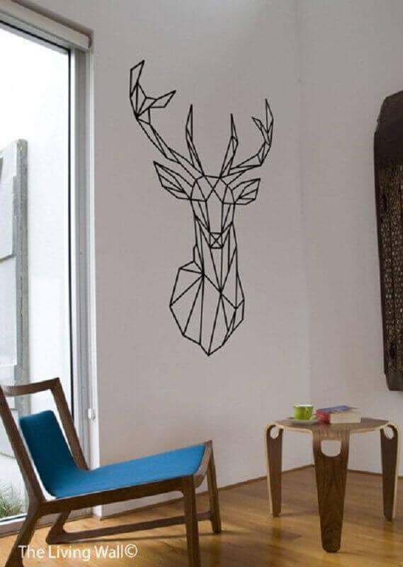 parede decorada com fita isolante Foto Etsy