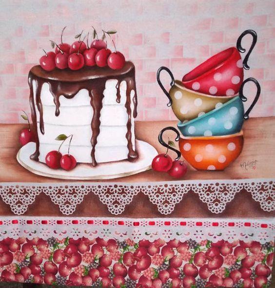 pinturas de pano de prato
