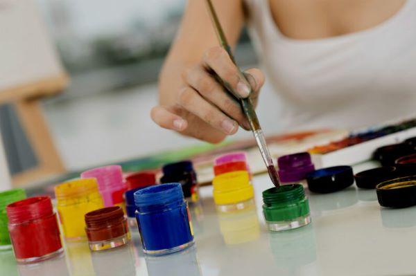 tintas para pintura em pano de prato