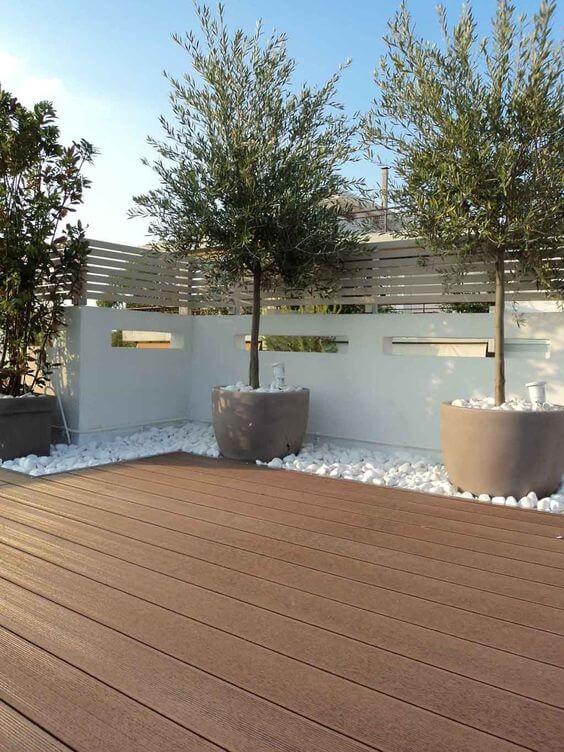 Piso para quintal de madeira