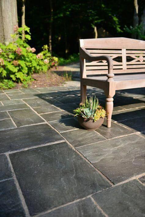 Piso para quintal de ardósia