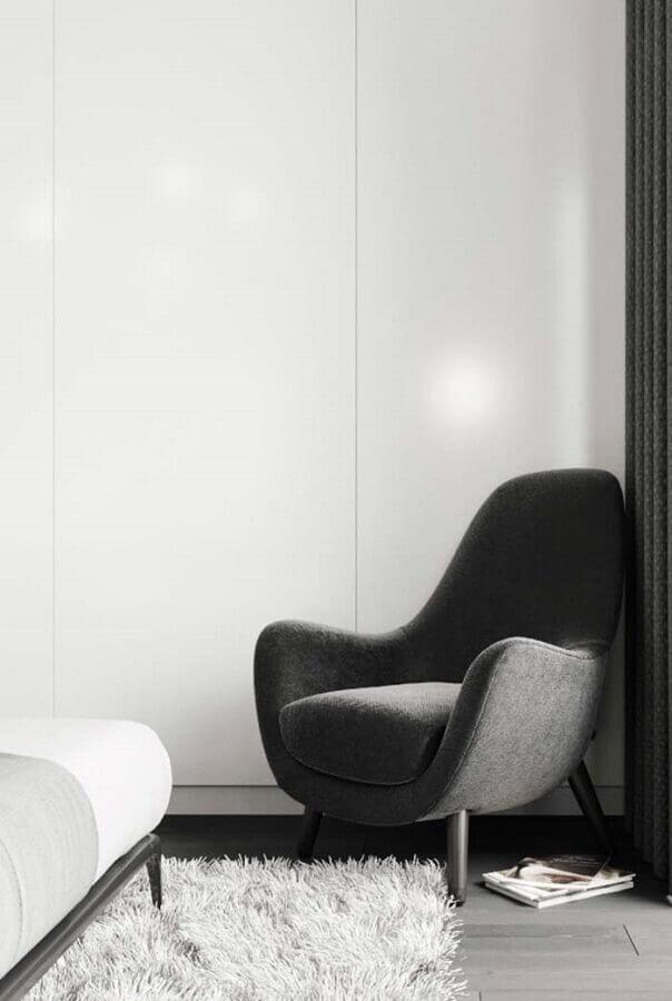 poltrona para quarto com design moderno Foto Pinterest