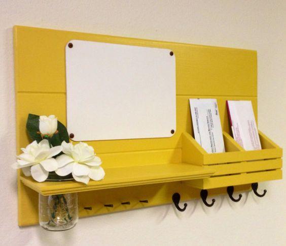 porta chaves amarelo