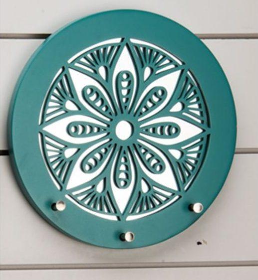 porta chaves circular azul