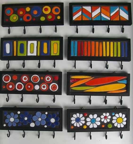 porta chaves colorido artesanal