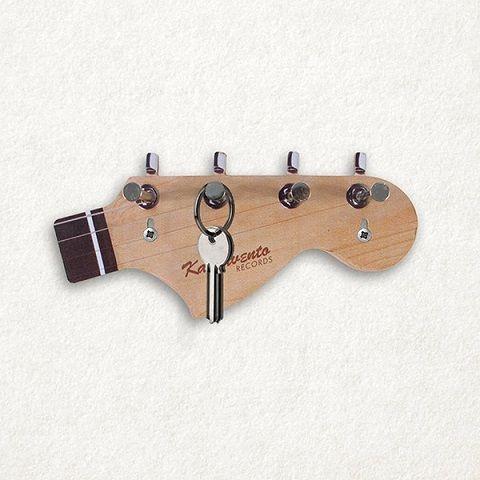 porta chaves de braço de guitarra