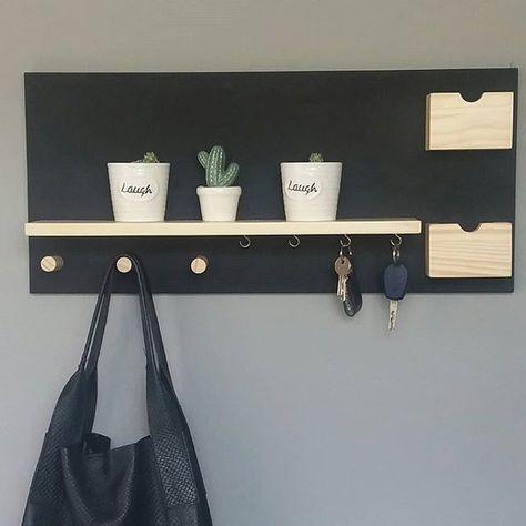 porta chaves multifuncional com espaço para bolsa