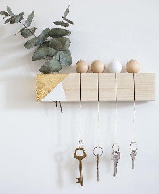 porta chaves simples com bolinhas