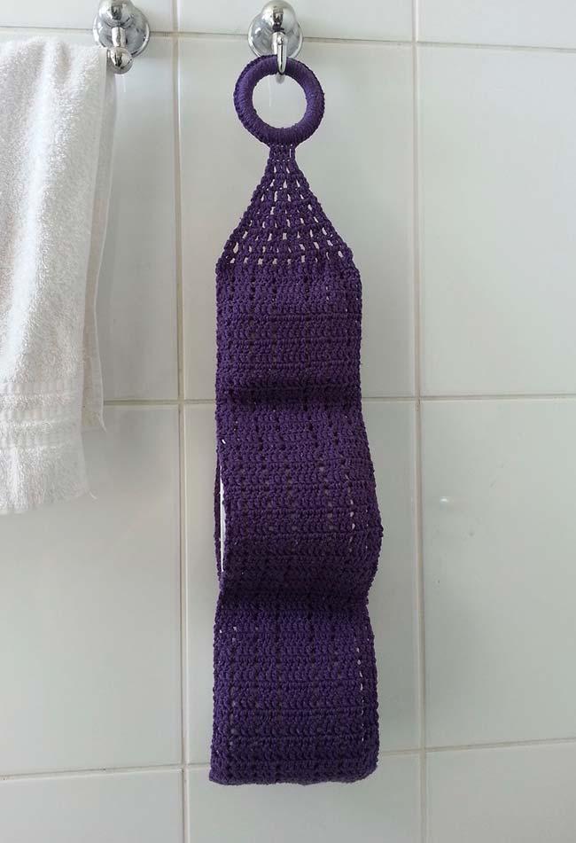 porta papel higiênico de crochê simples