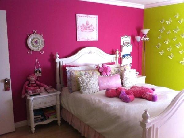 parede rosa fúcsia