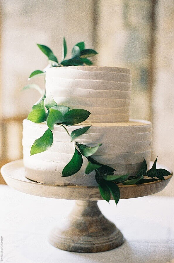 ramo de folhas para bolo de mini wedding Foto Wedding Dream