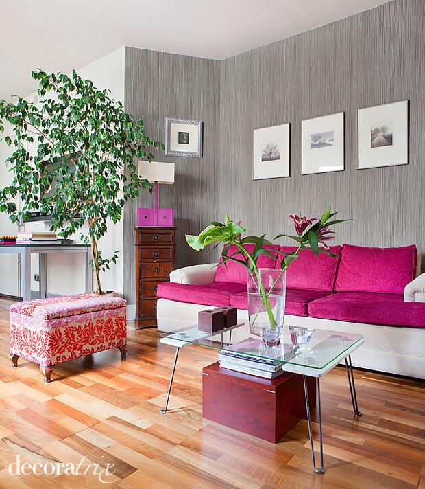 sofá fúcsia