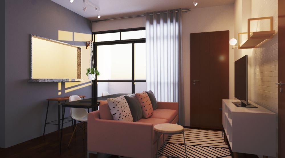 sofá para apartamento - sala pequena e delicada