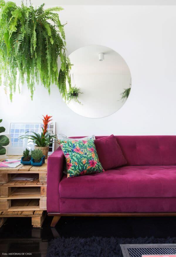Sofá colorido pink