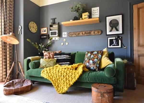 mantas para sofá coloridas