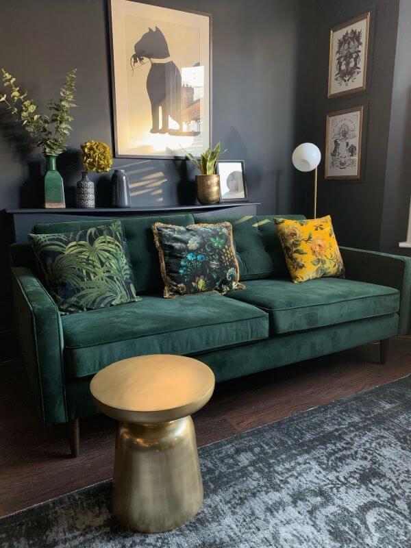 Sofá colorido verde