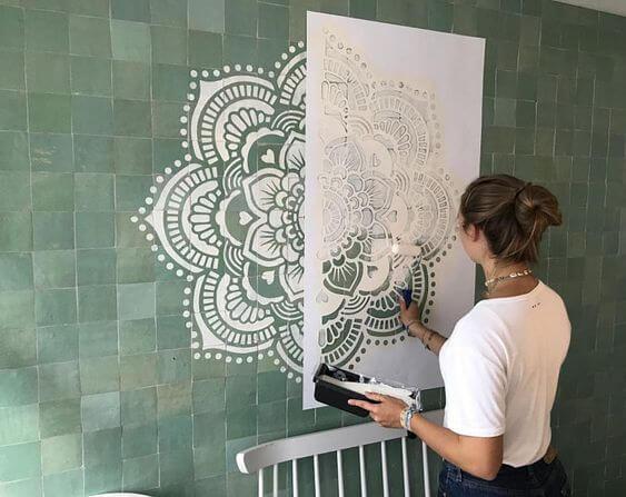Stencil grande para parede