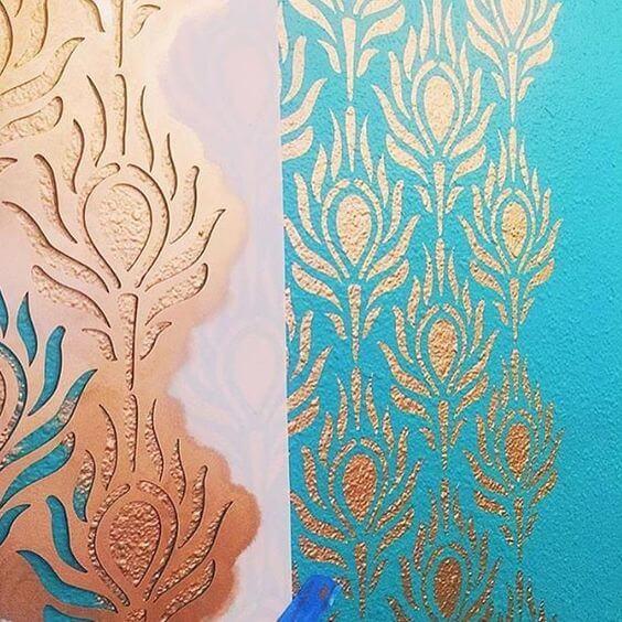 Stencil Decorativo Molde Vazado P Pintura Em Parede 36 Top