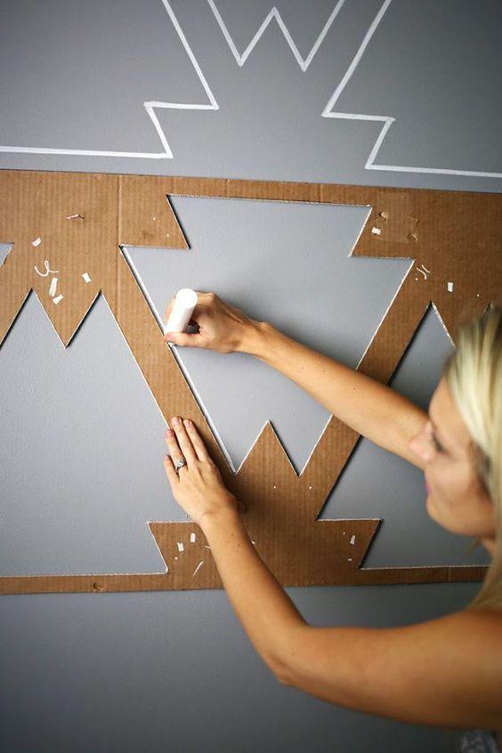 stencil para parede grande