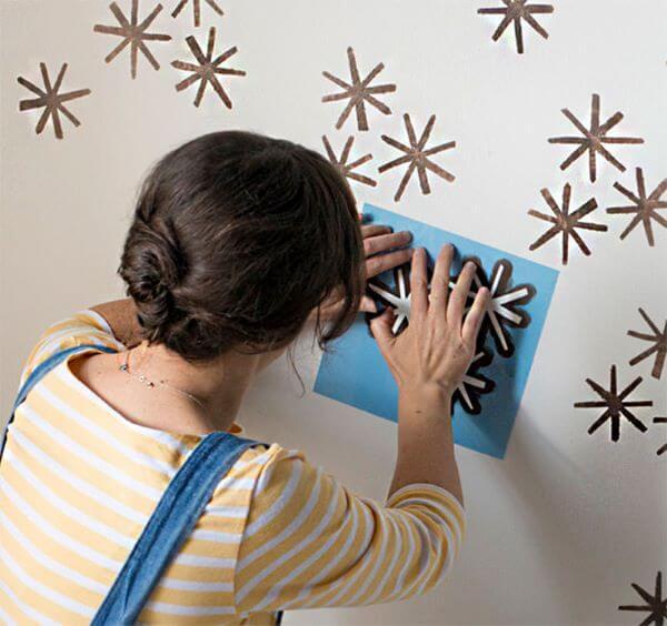Stencil para parede em formato de estrela