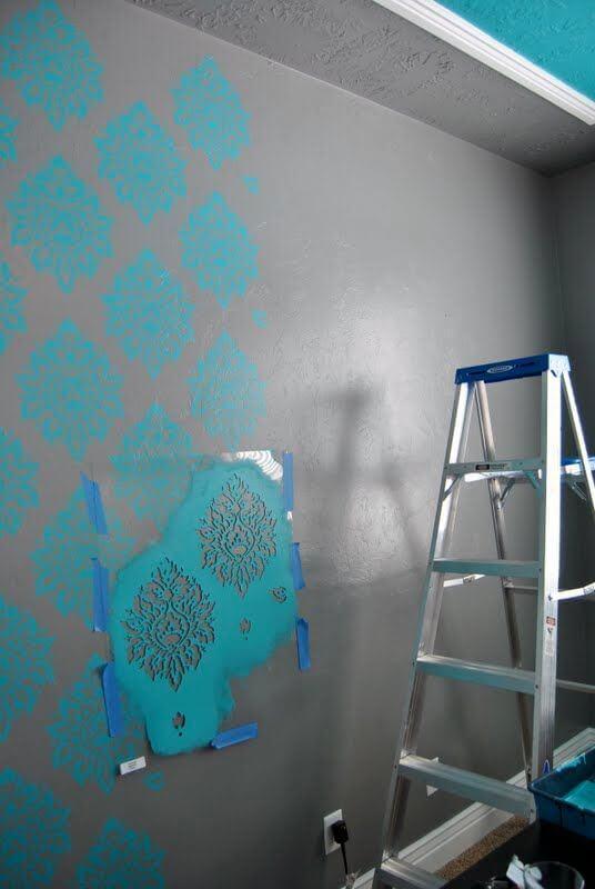 stencil para pintura parede