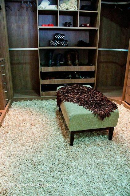 tapete medusa - closet com tapete felpudo