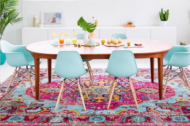 Destaque o ambiente com os tapetes coloridos
