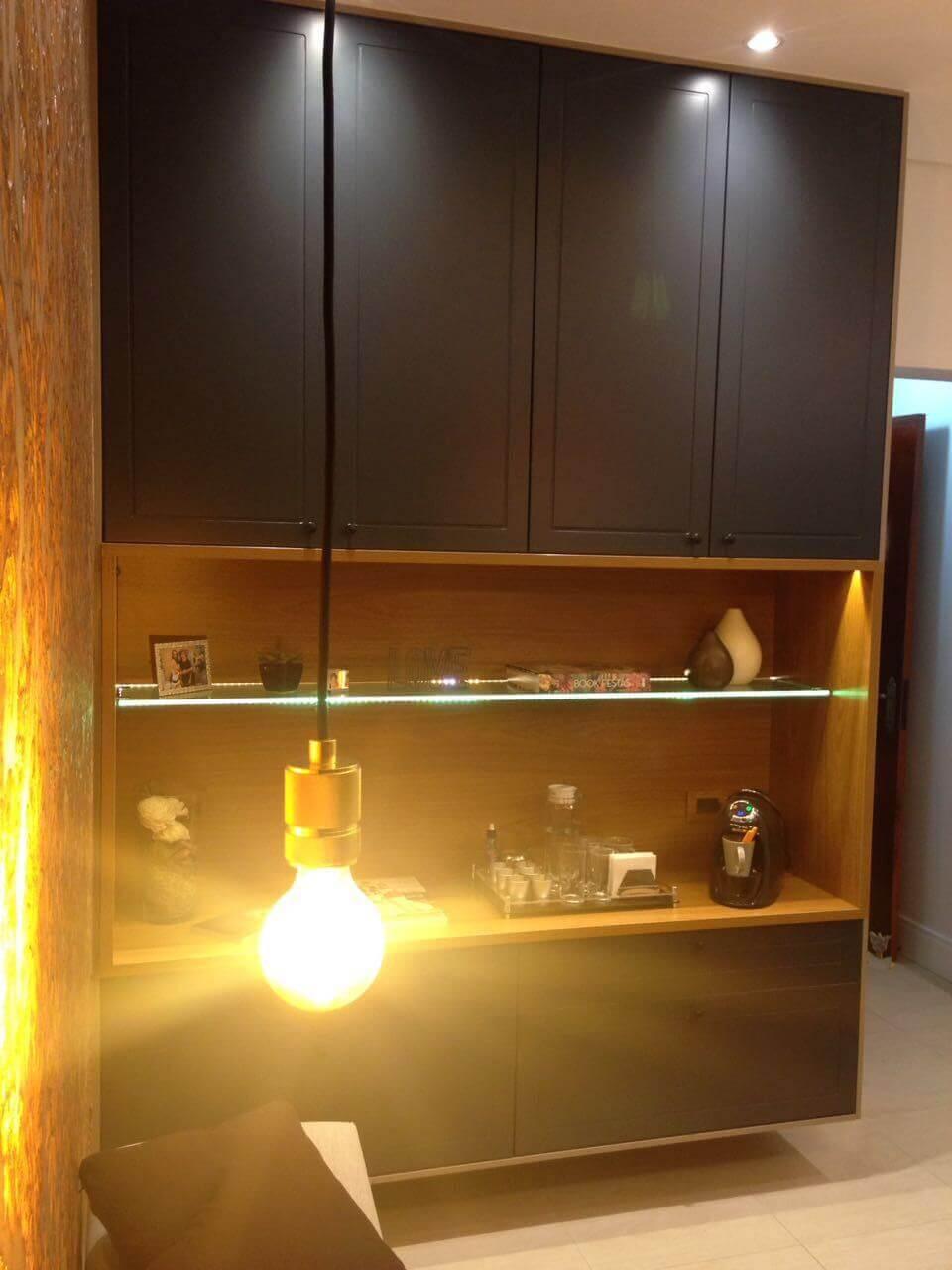 tipos de lâmpadas - armário com nicho