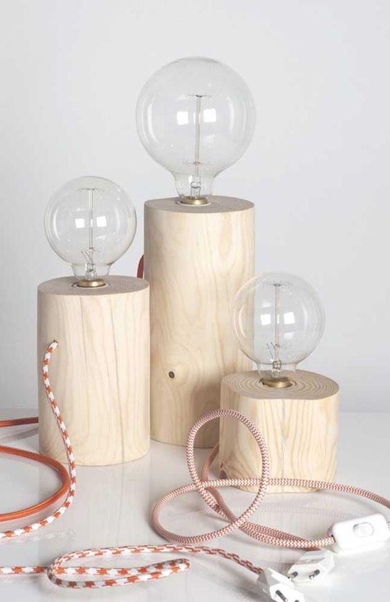 tipos de lâmpadas - luminárias simples